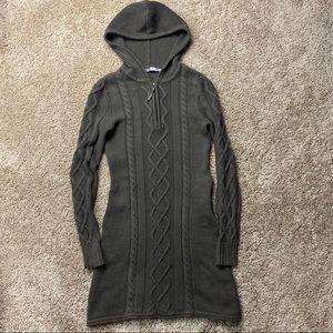 Athleta Brown Hut to Hut Hoodie Sweater Dress XS
